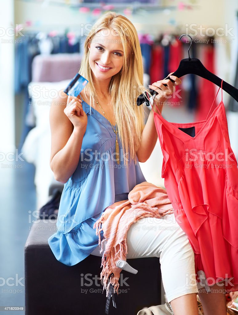 Naughty shopaholic royalty-free stock photo