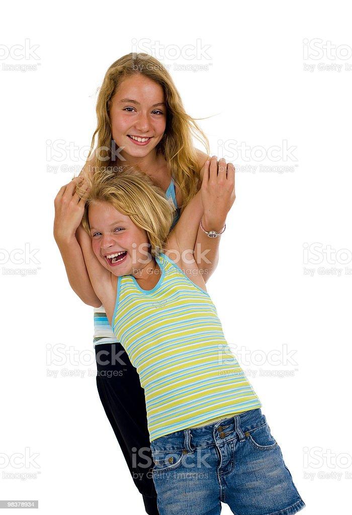 naughty sisters having fun royalty-free stock photo
