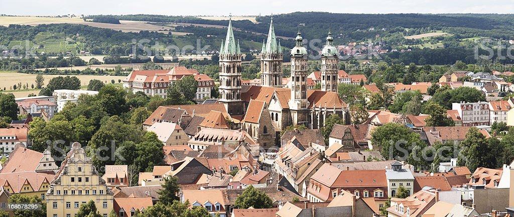 Naumburg Cathedral - Panorama stock photo