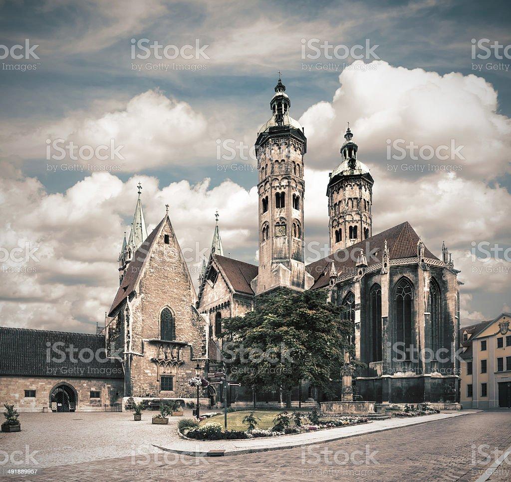 Naumburg Cathedral, tinted image stock photo