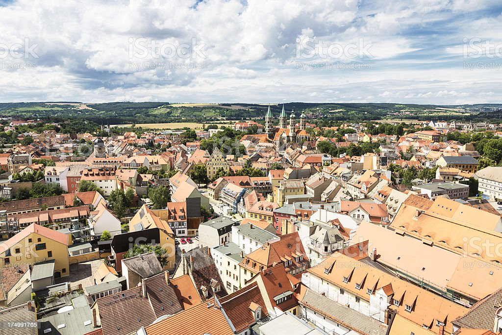 Naumburg cityscape with Cathedral stock photo