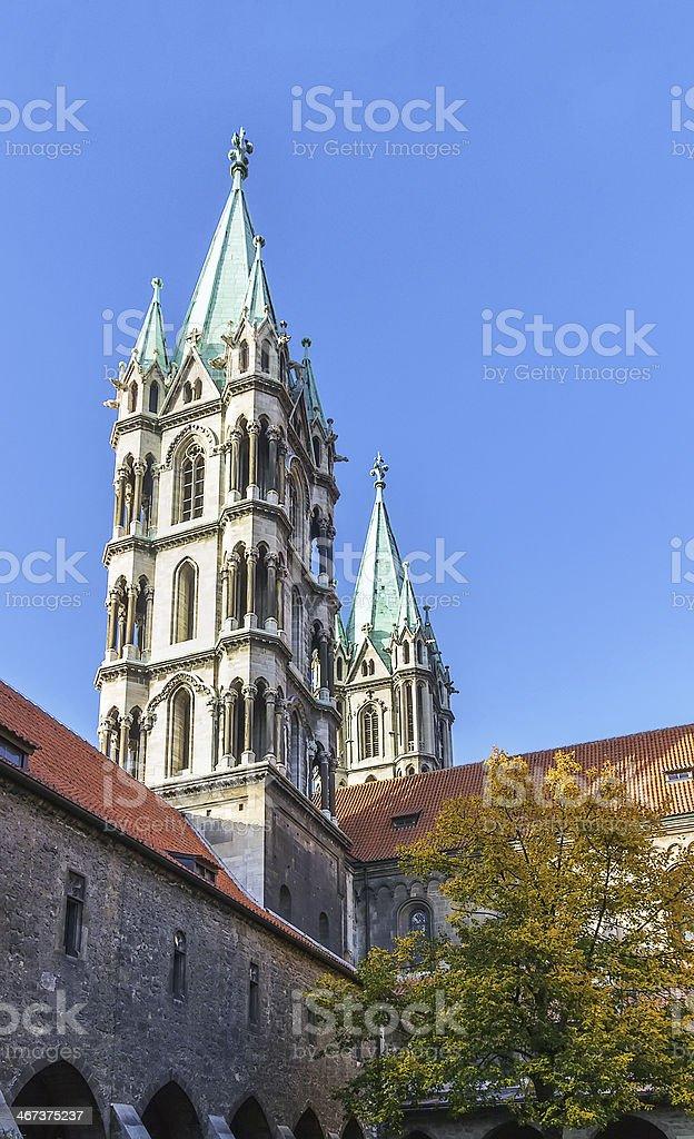 Naumburger Cathedral, Germany stock photo