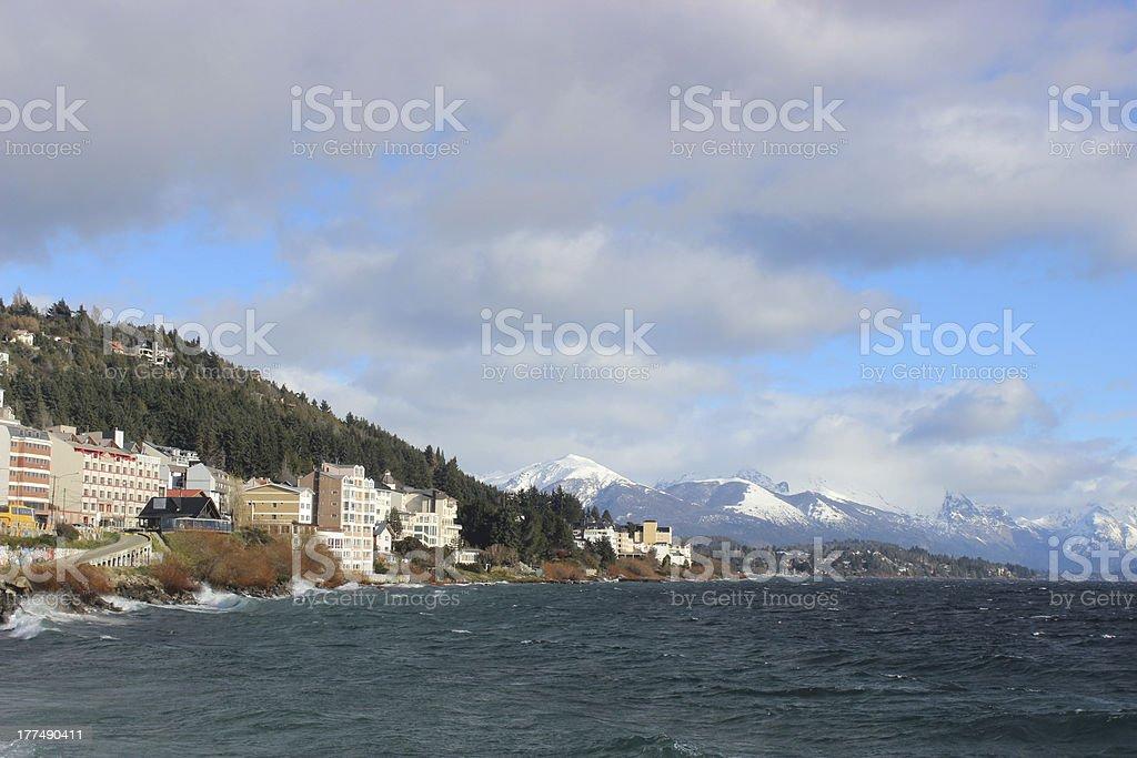 Naupel Huapi Lake at Bariloche - Argentina stock photo