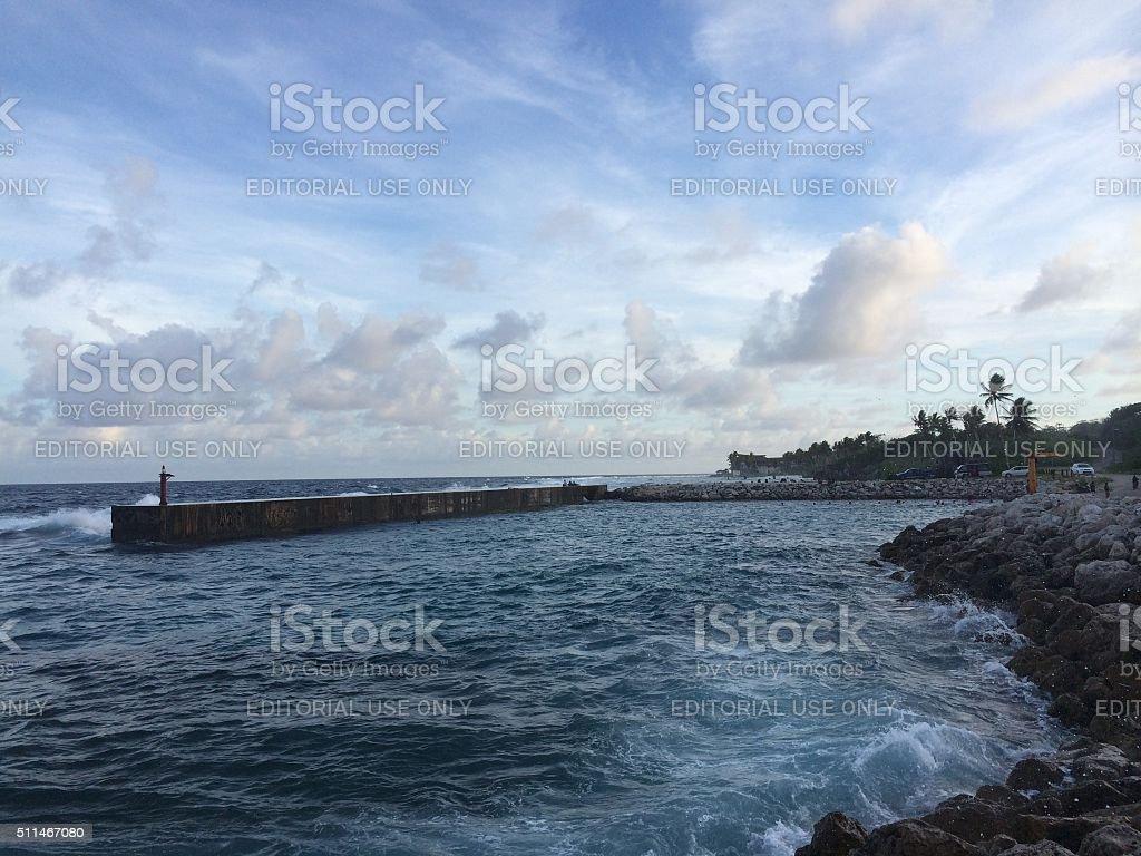 Nauru Boat Harbour stock photo