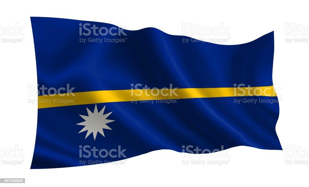 Nauru flag. A series of 'Flags of the world.'  (The country - Nauru flag) stock photo