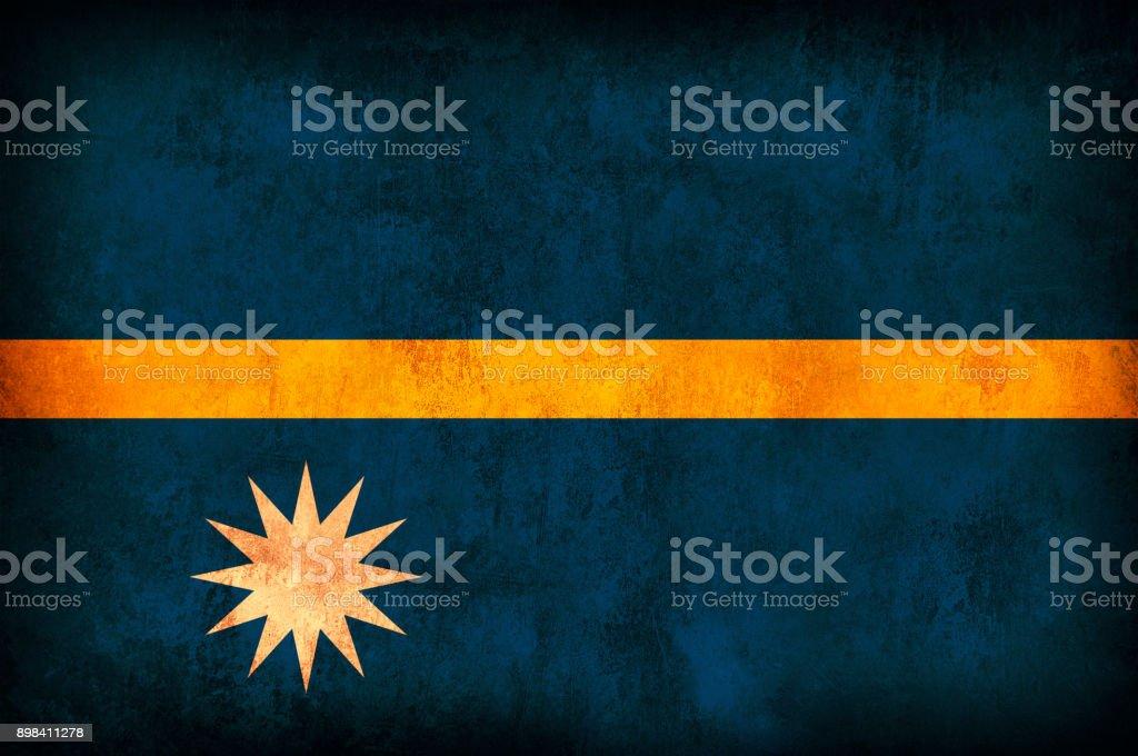 Nauru Grunge Flag stock photo