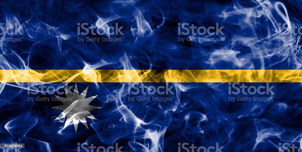 Nauru smoke flag stock photo