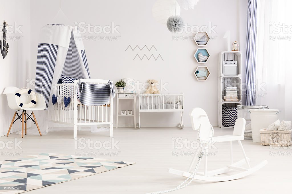 Nautical baby style stock photo