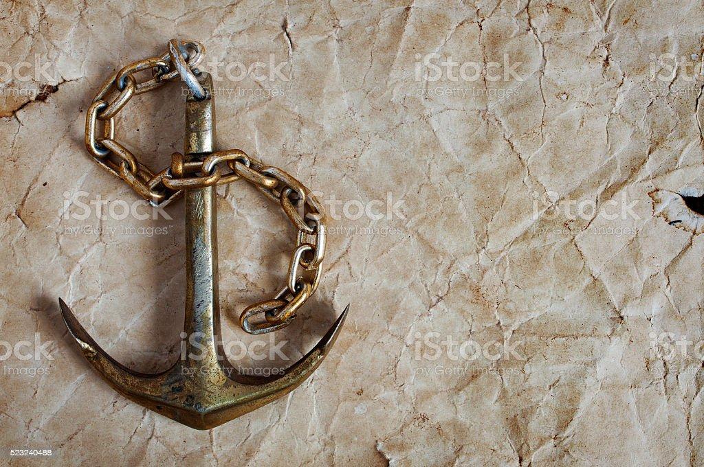 Nautische Hintergrund mit Anker – Foto