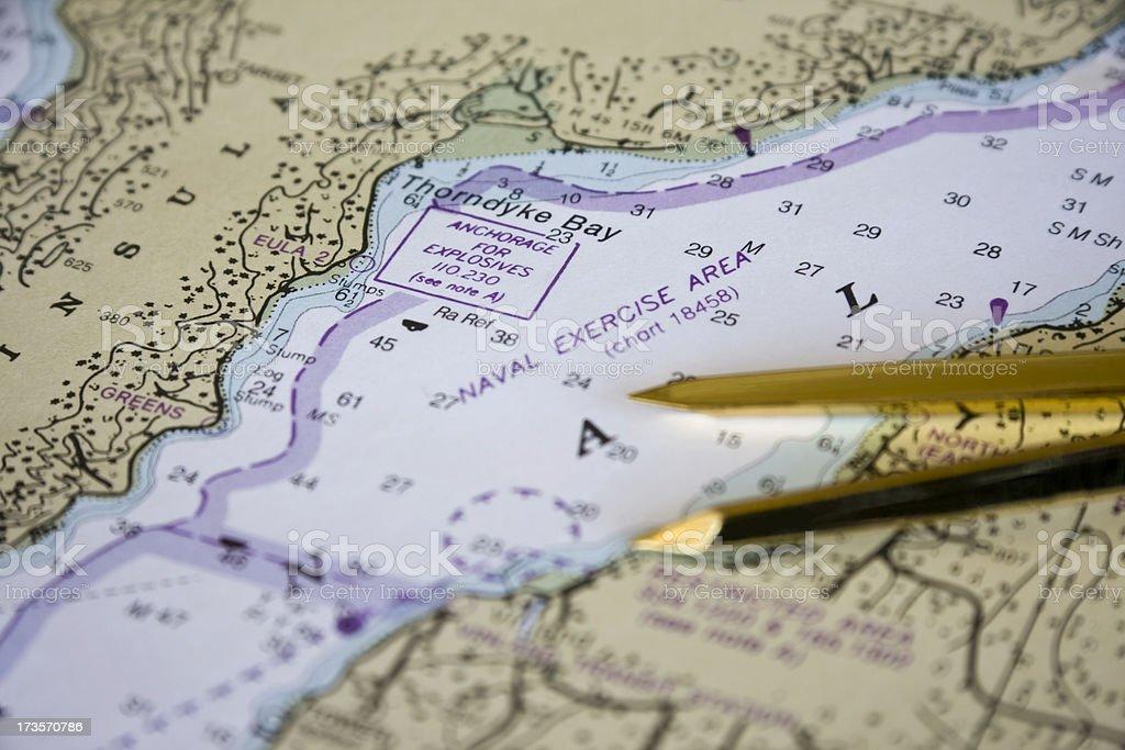 Nautical Chart Detail 4 royalty-free stock photo