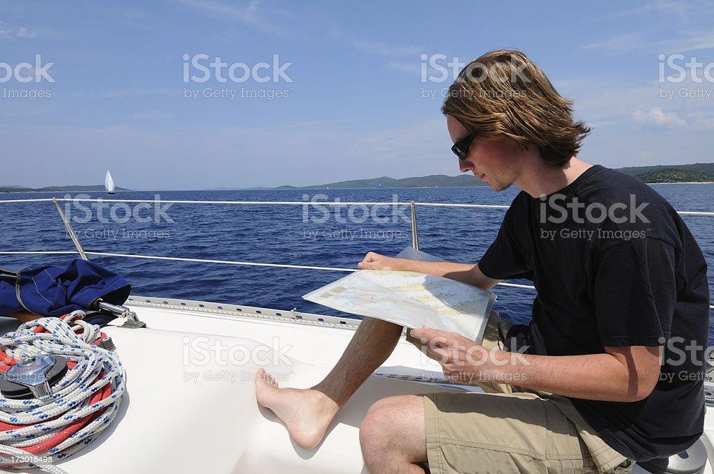 Nautical chart royalty-free stock photo