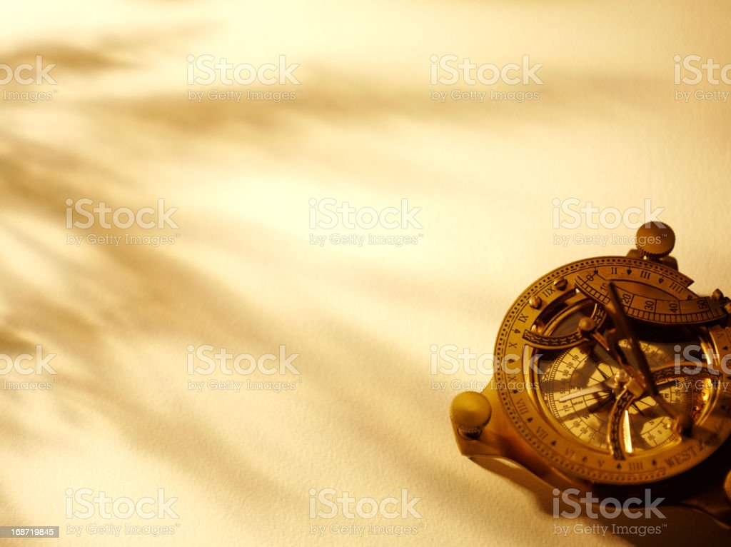 Nautical Compass on a Textured Paper stock photo