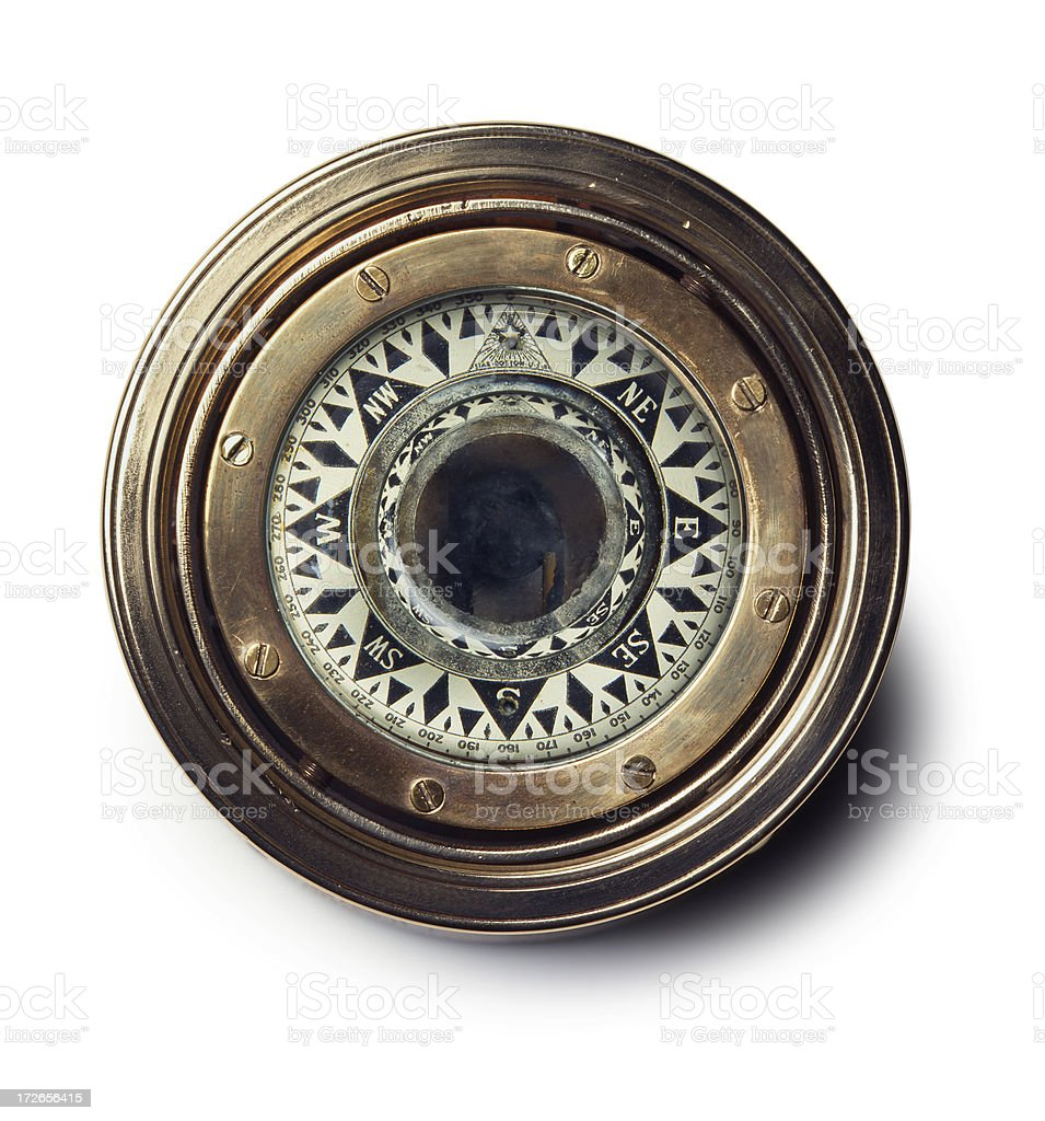 Nautical Compass stock photo