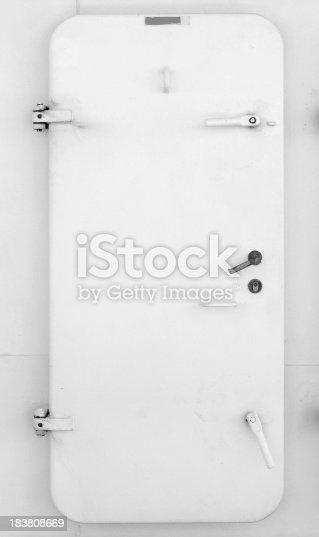 Grungy door on a boat