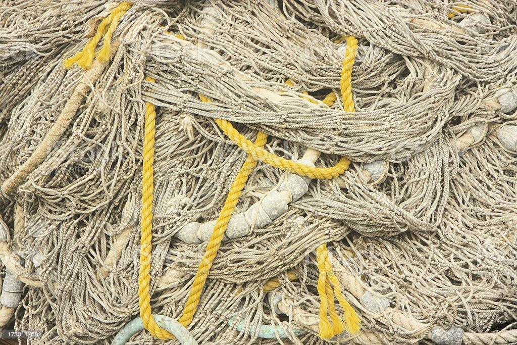 Nautical Fishing Net Rope Buoy royalty-free stock photo