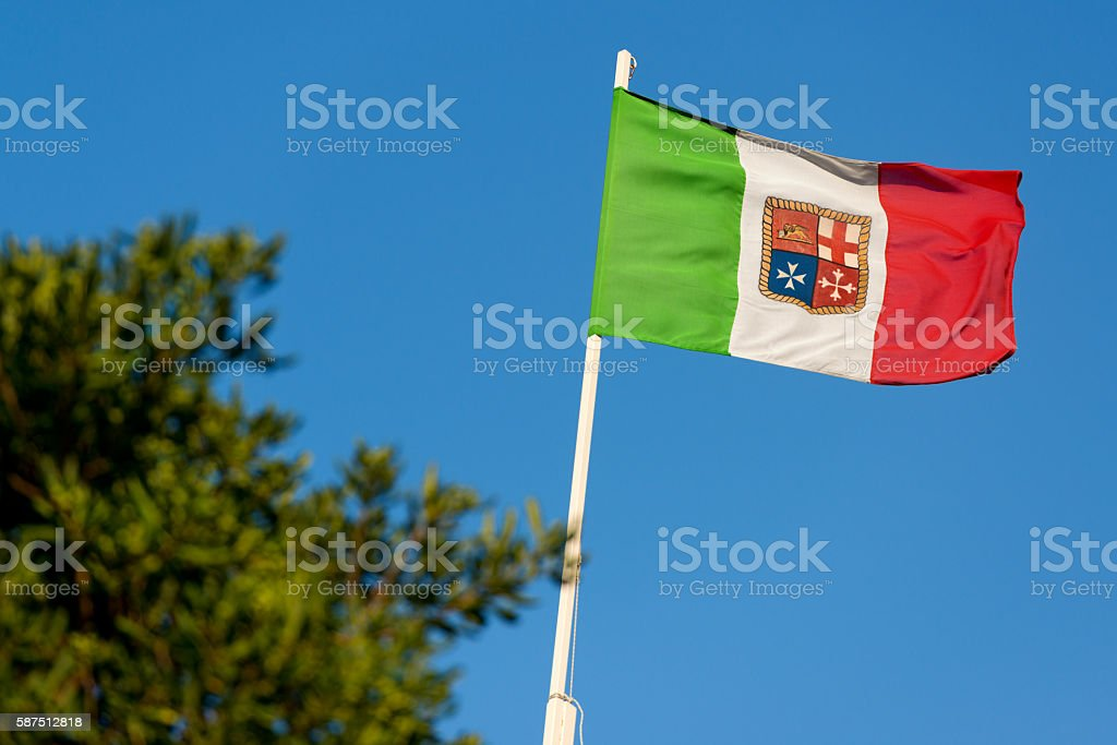 Nautical Flag of Italy stock photo