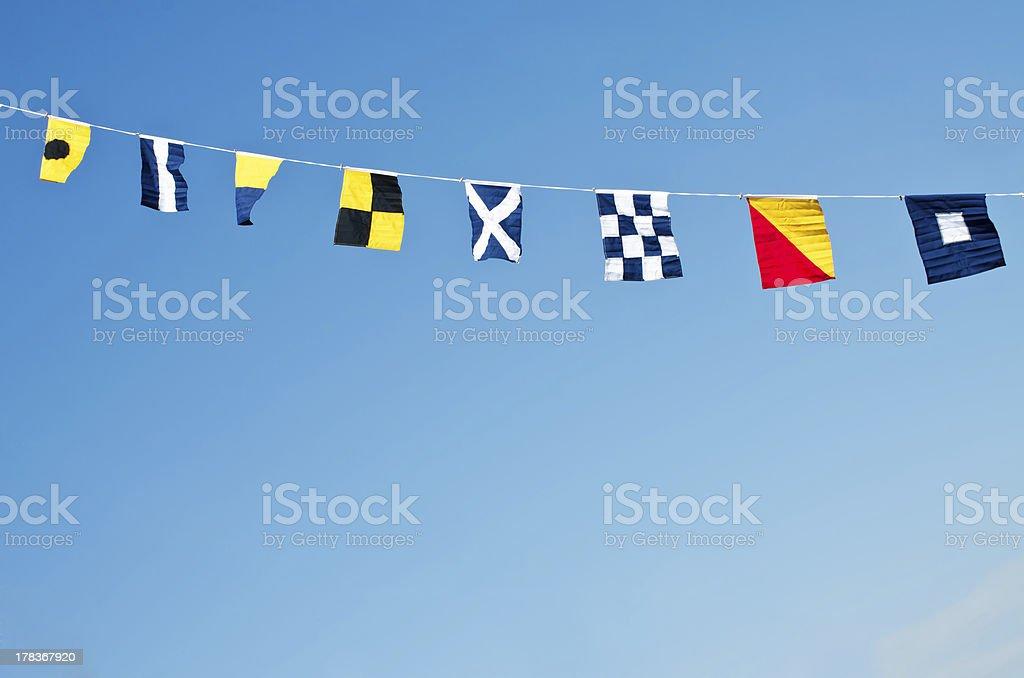 Nautical flags stock photo