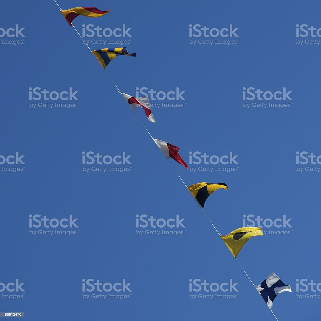 Nautical flags royalty-free stock photo