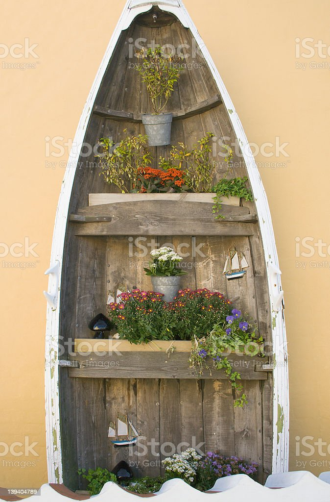 Nautical flower display royalty-free stock photo