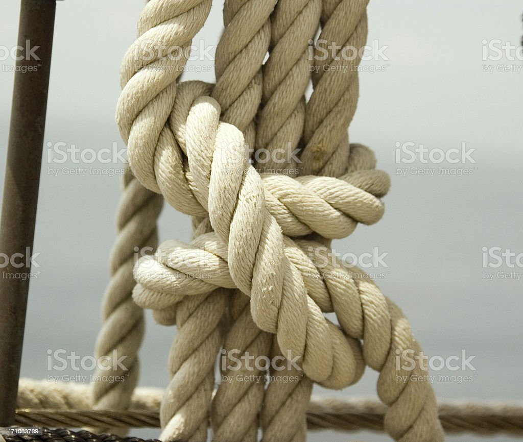Nautical knot royalty-free stock photo