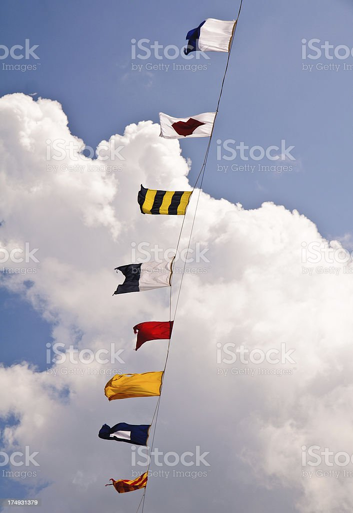 Nautical Pennants royalty-free stock photo