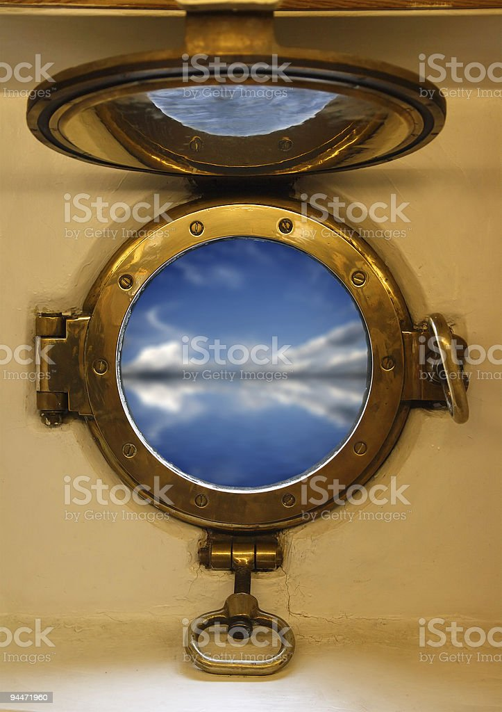 nautical porthole royalty-free stock photo