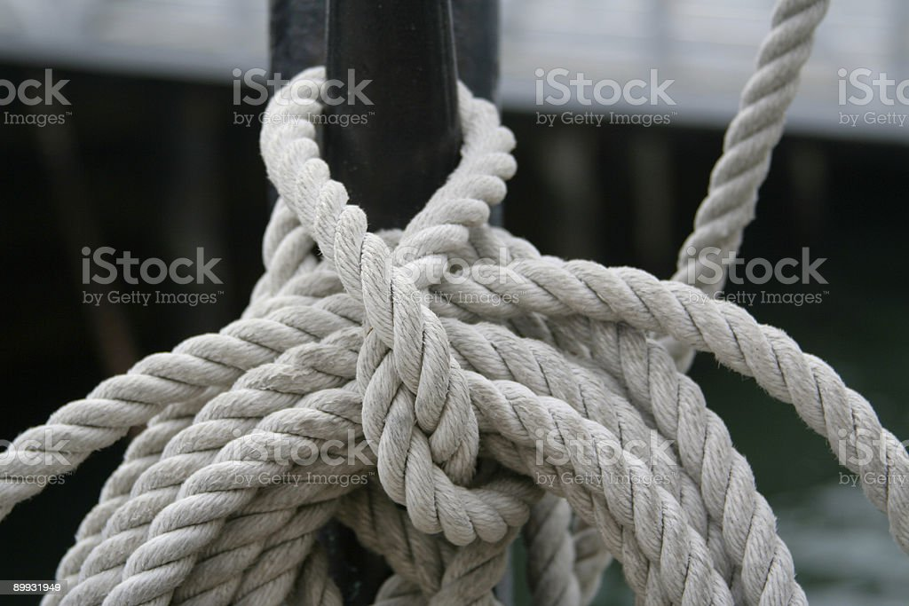 Nautical Rope Abstract royalty-free stock photo
