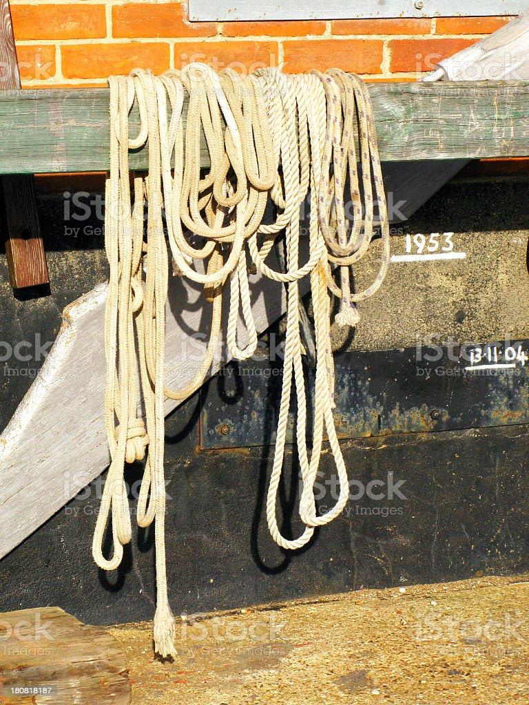 Nautical Rope On Quay royalty-free stock photo
