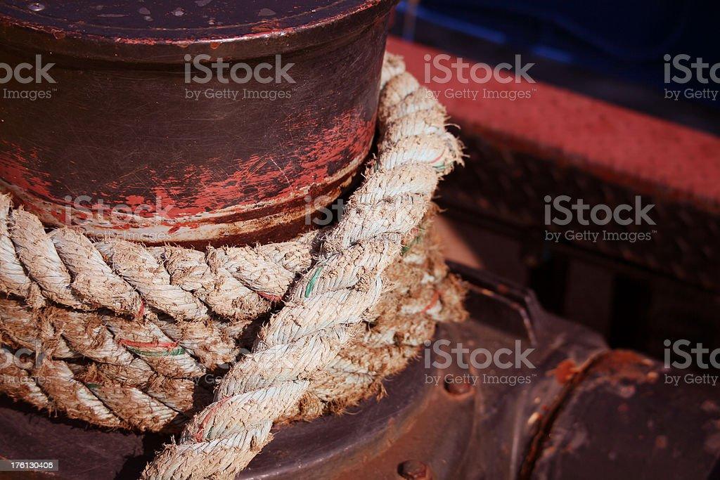 Nautical rope royalty-free stock photo