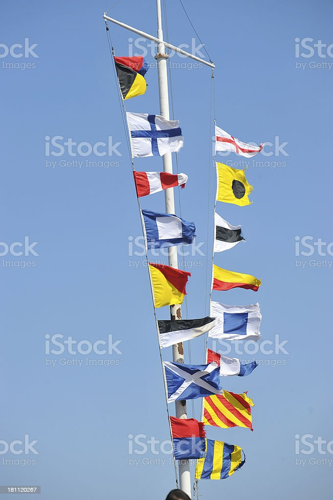 nautical signal flags royalty-free stock photo