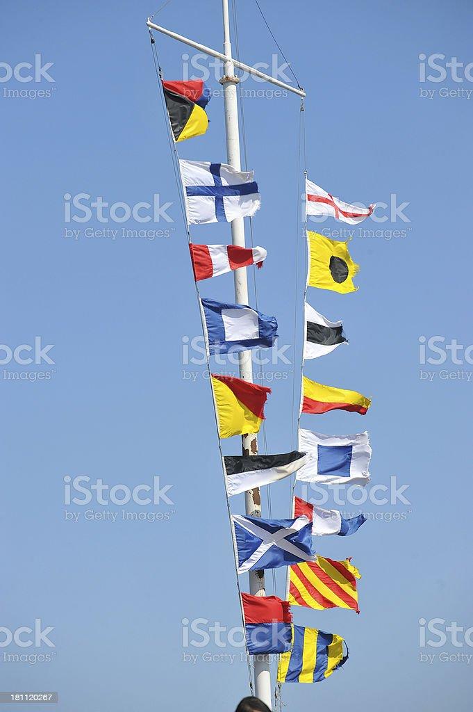 nautical signal flags stock photo