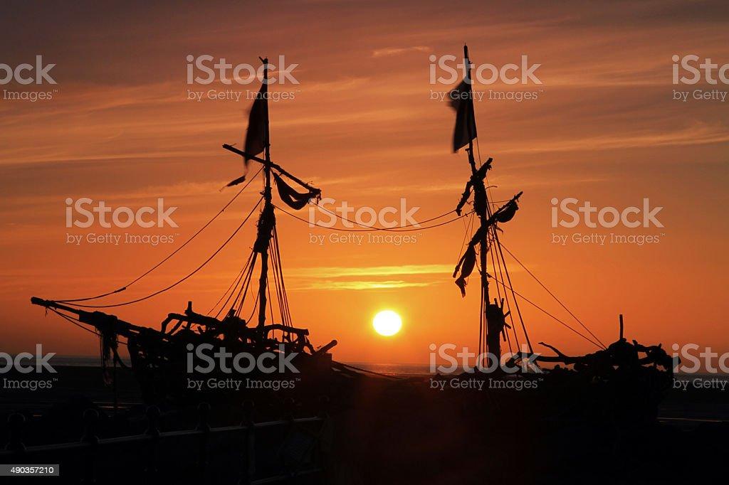 Nautical Sunset stock photo