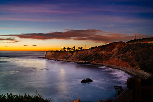 Nautical Twilight at Point Vicente stock photo