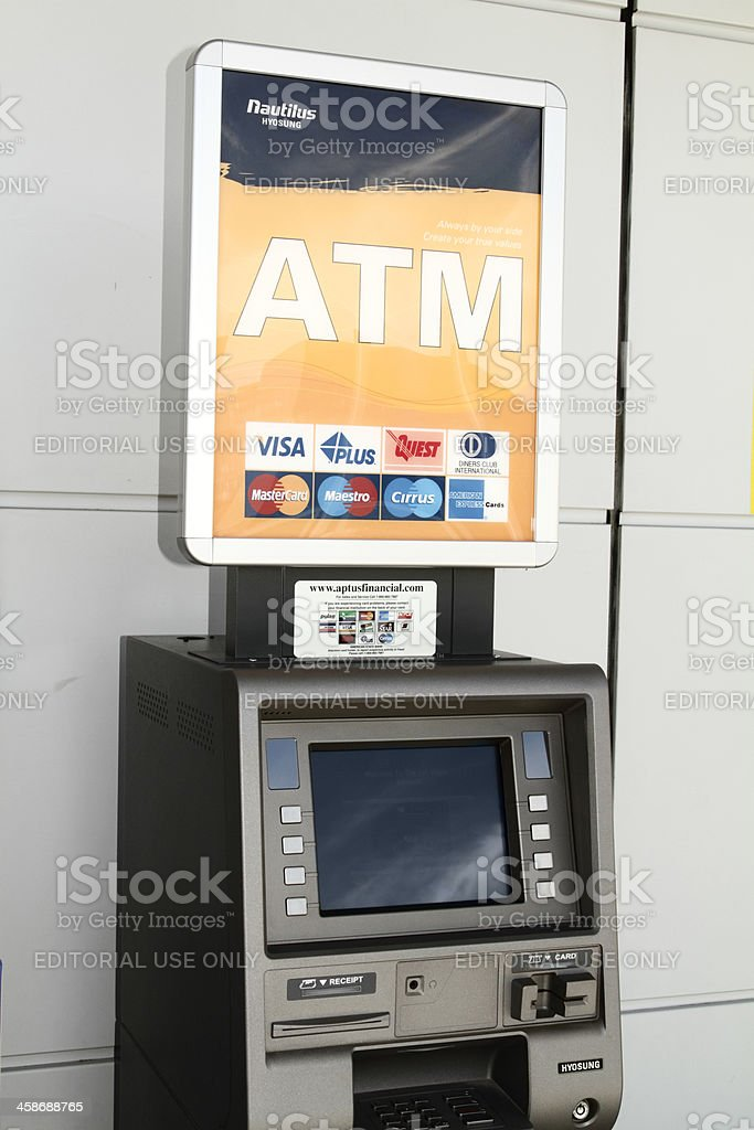 Nautilus ATM machine stock photo