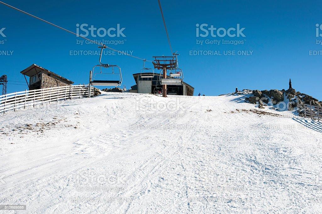 Navacerrada Ski Resort stock photo