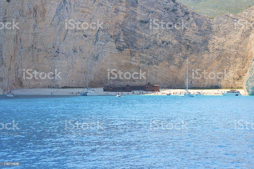 Navagio Beach royalty-free stock photo