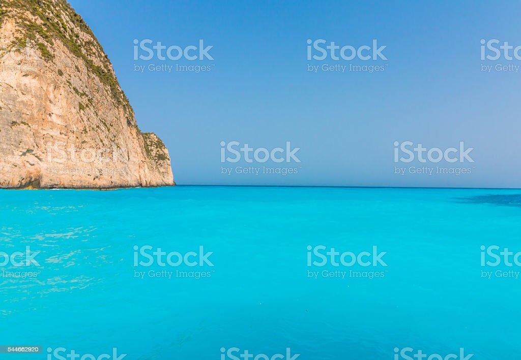 Navagio Beach with shipwreck in Zakynthos, Greece stock photo
