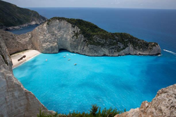 Navagio Strand mit Schiffswrack auf Der Insel Zakynthos, Griechenland – Foto