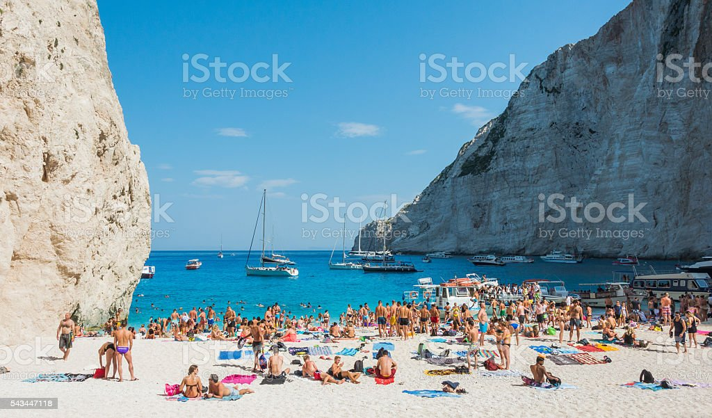 Navagio Beach Zakynthos stock photo