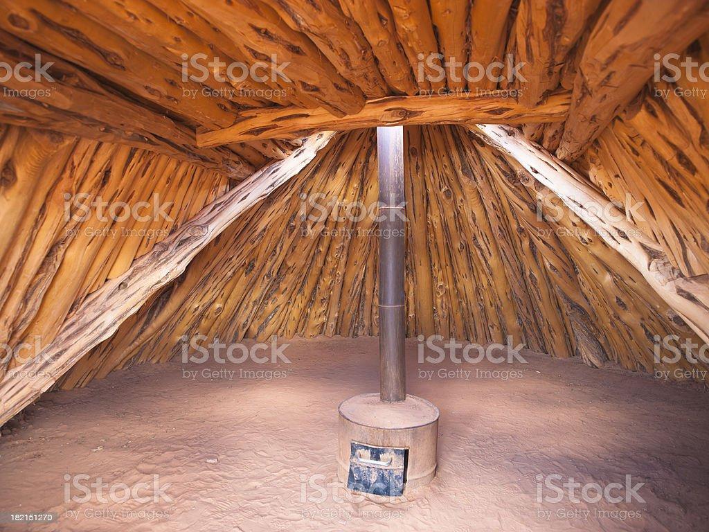 Navajo adobe house royalty-free stock photo