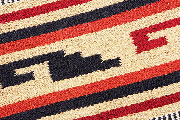 navajo blanket rug fabric design - navajo culture stock photos and pictures