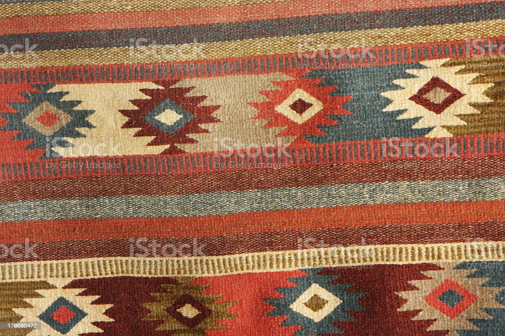 Navajo Blanket Rug Fabric Design stock photo
