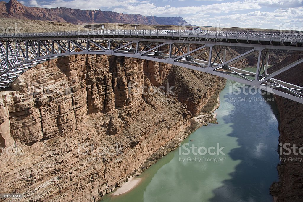 Navajo Bridge over the Grand Canyon royalty-free stock photo