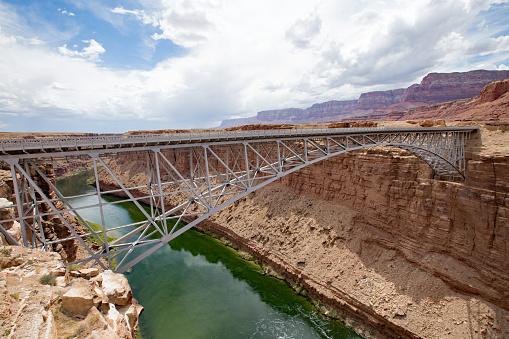 Navajo Bridge over the Colorado River at Marble Canyon
