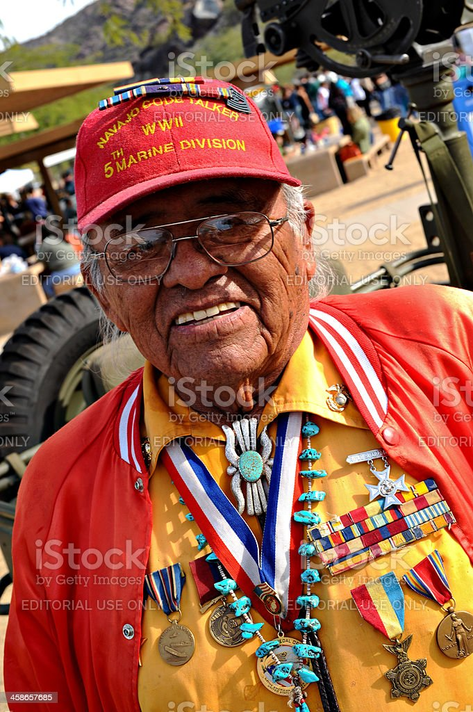Navajo Code Talker stock photo