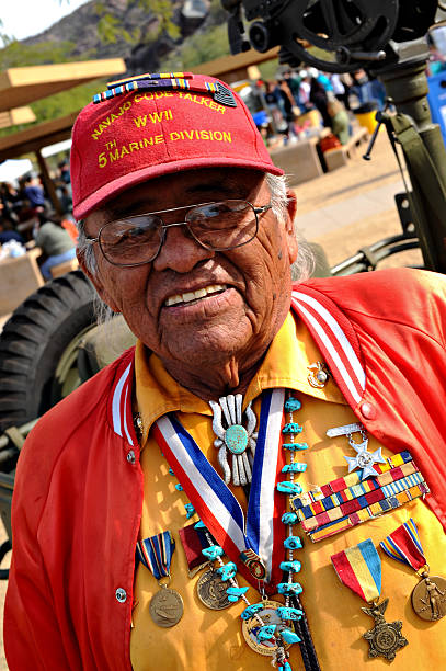 navajo code talker - navajo culture stock photos and pictures
