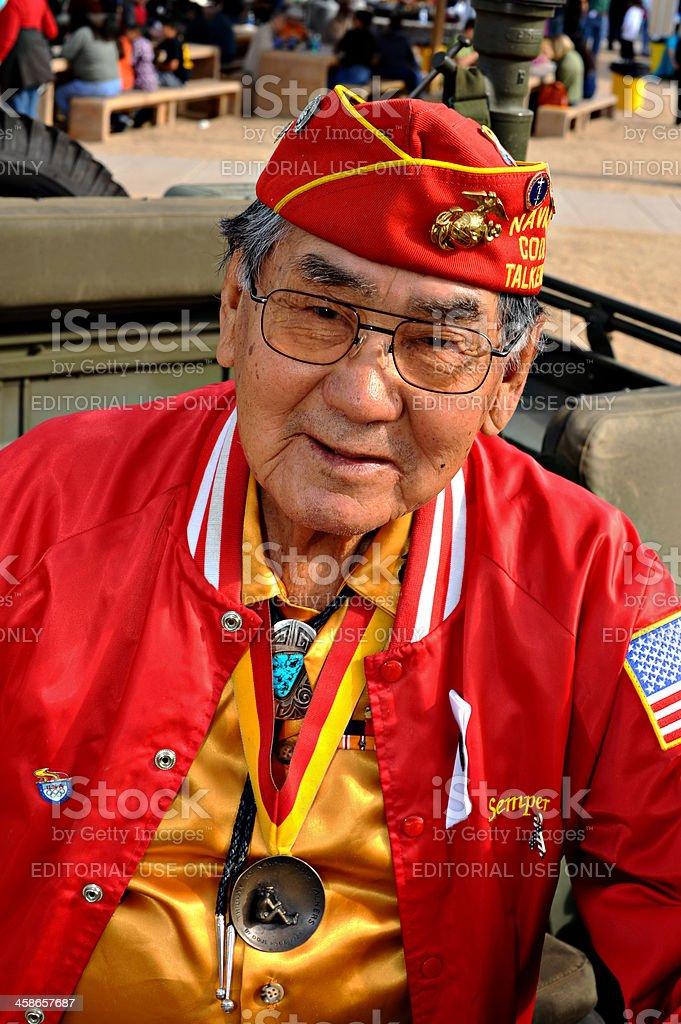 Navajo Code Talker stock photo