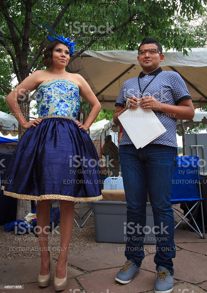 Navajo Fashion Designer And Model 2015 Santa Fe Indian Market Stock Photo Download Image Now Istock