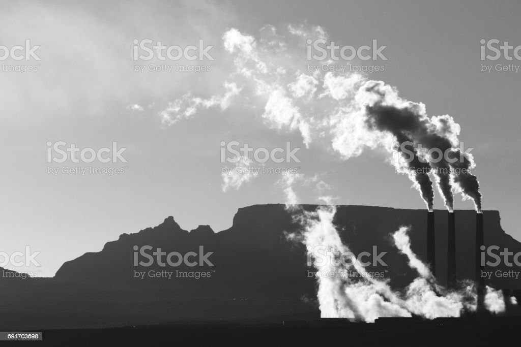 Navajo Generating Station Coal Fired Power Plant stock photo
