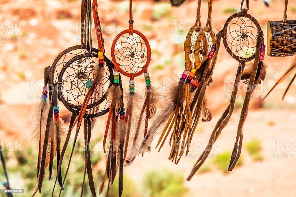 Navajo Indian amulets stock photo